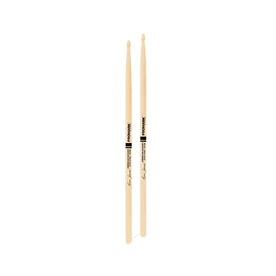 Promark TXJZW Hickory JZ Jazz Elvin Jones Drumsticks, Wood Tip