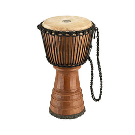 MEINL Percussion DJTC1-M 10inch Tongo Carved Djembe, Brown