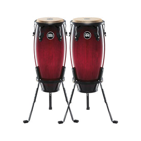 MEINL Percussion HC555WRB 10+11inch Headliner Series Conga Set w/Basket Stand, Wine Red Burst