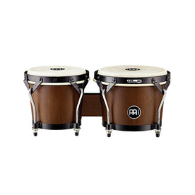 MEINL Percussion HTB100WB-M 6-3/4+8inch Headliner Series Wood Bongo, Walnut Brown