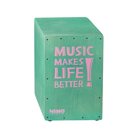 NINO Percussion NINO952TU 17-3/4Inch Tall, Birch Cajon, Turquoise