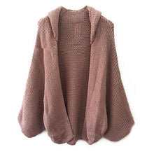Load image into Gallery viewer, Open Knit Hooded Cardigan Featuring Dolman Sleeve