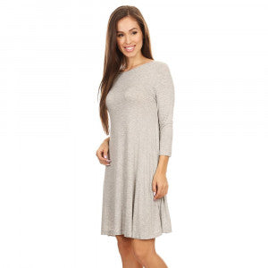 Kate-Knit Swing Dress with Pockets