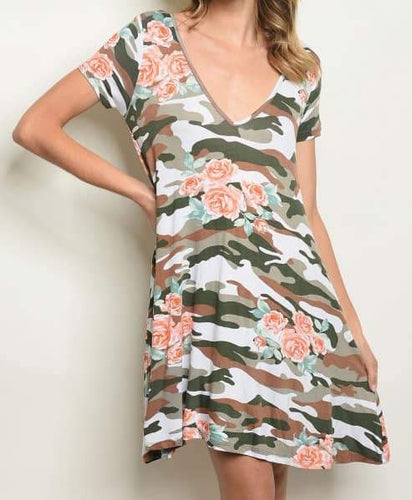 Camo and Floral Dress