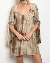 Load image into Gallery viewer, Olive and Ivory Tie Dye Dress
