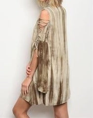 Olive and Ivory Tie Dye Dress