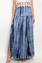 Load image into Gallery viewer, Navy Tie Dye Skirt
