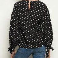 Black and White Polka Dot Top