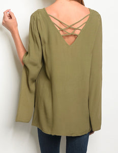 Olive Oversized Top