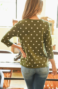 Green Polka Dot Top