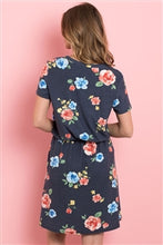 Load image into Gallery viewer, Floral Navy Dress