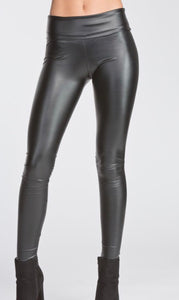 Fitted Pleather Leggings