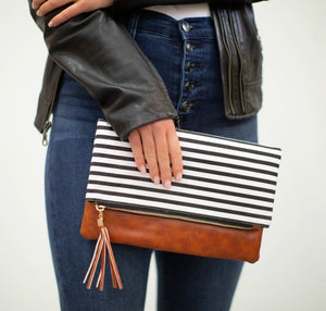 Preppy Stripped Clutch