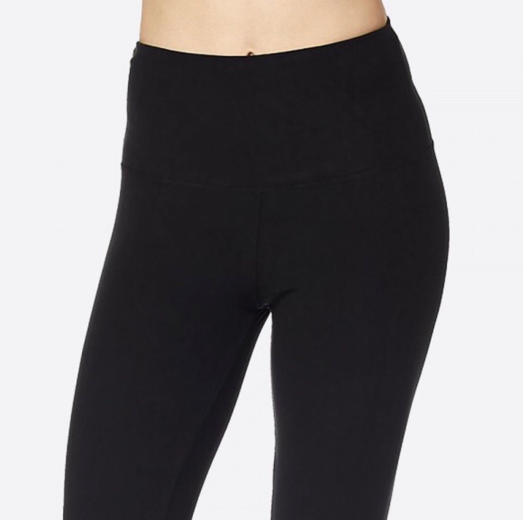 Black Yoga Waistband Ultra Soft Brushed Leggings