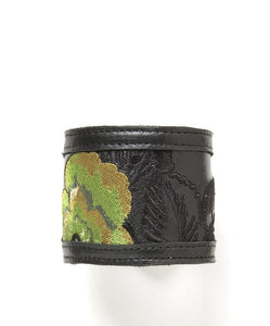 Leather Cuff - Chartreuse