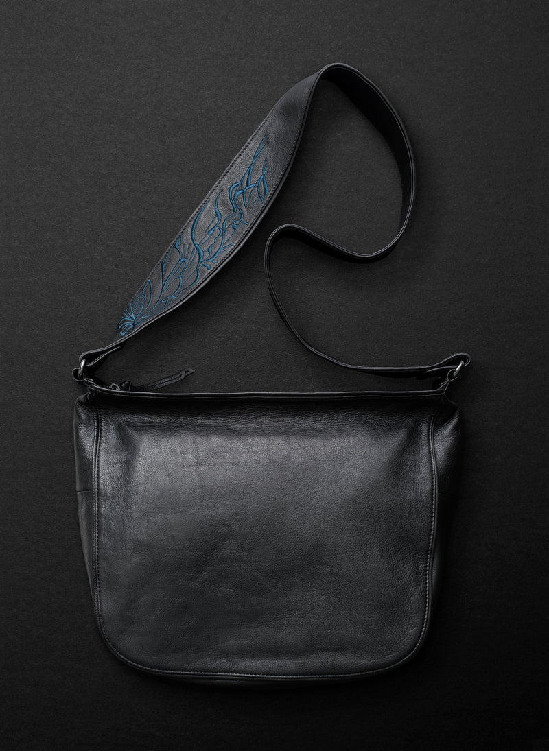 Nouveau Large Satchel - Licorice - Belinda Pieris