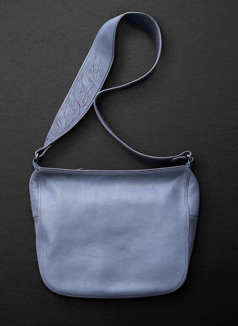 Nouveau Large Satchel - Blue Willow - Belinda Pieris
