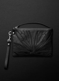 Papillon Clutch Bag - Licorice - Belinda Pieris