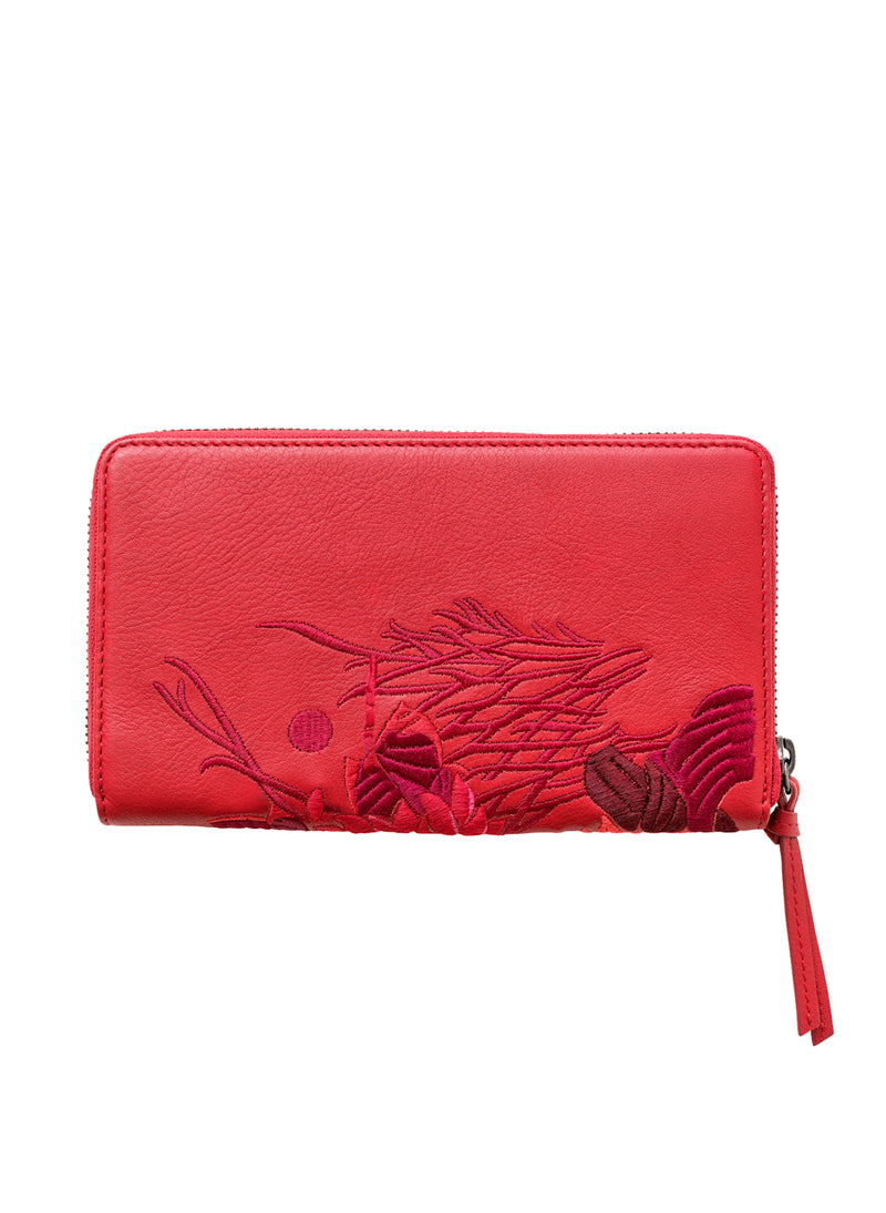 Lotus XL Zipped Wallet - Carmen - Belinda Pieris