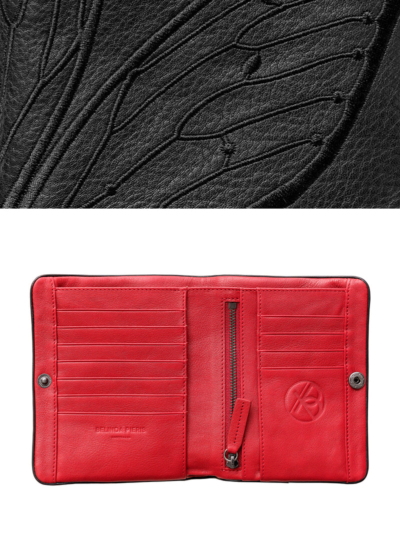 Papillon Squire Wallet - Licorice/Carmen - Belinda Pieris