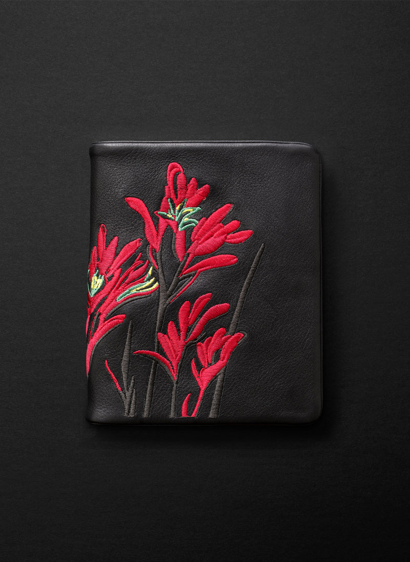 Kangaroo Paw Squire Wallet - Licorice - Belinda Pieris