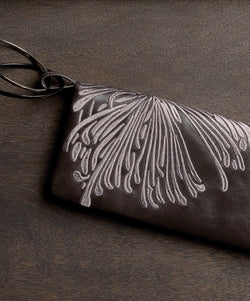 Bloom Bracelet Clutch - Smoke - Belinda Pieris