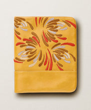Waratah Embroidered Wallet - Yellow/Orange