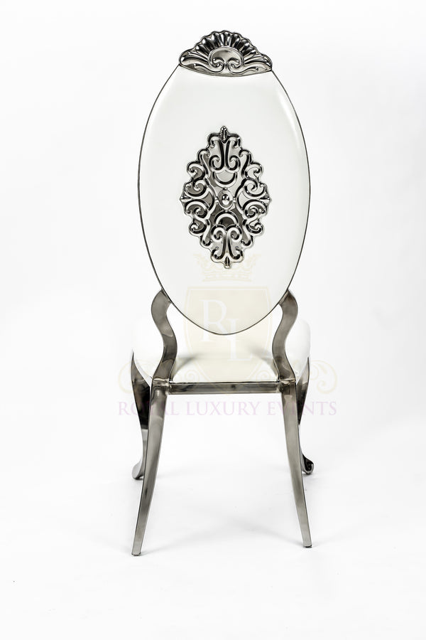 Gorgeous Royal Gold Chair White Cushion With Amazing Back
