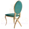 Cross Legged Gold Chair with Emerald Green Cushion