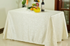 Rectangular Polyester Tablecloth in White, Ivory, Gold, Pink, or Purple