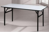 6 Foot Rectangular Dining Table with Elegant White Leather Cushioned Top