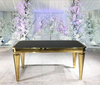 Aristocratic Gold and Black Sweetheart or Dining Table