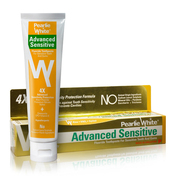 Advanced Sensitive | Hypoallergenic Fluoride Toothpaste 130gm - Pearlie White