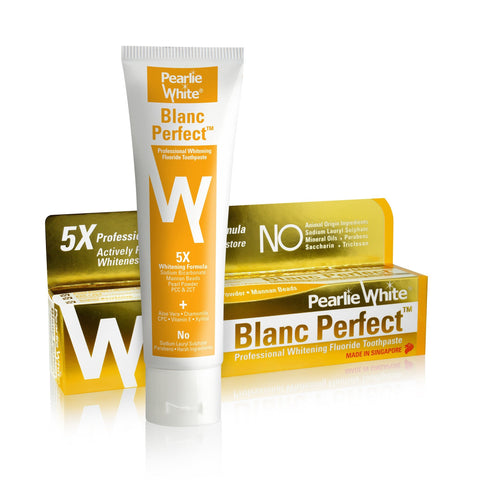 Blanc Perfect | Professional Whitening Fluoride Toothpaste 110gm - Pearlie White