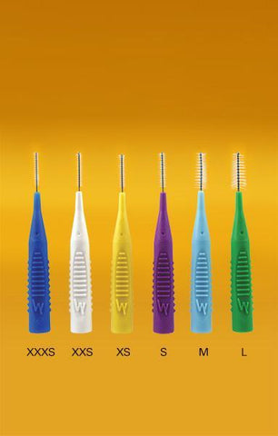 Compact Interdental Brushes | Pack of 5s - Pearlie White