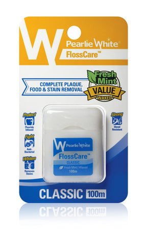 FlossCare | Waxed Mint Floss - Pearlie White