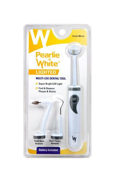 Lighted Dental Mirror & Cleaning Tool - Pearlie White