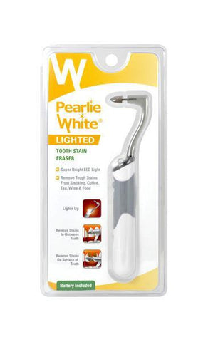 Lighted Tooth Stain Eraser<br><br><br> - Pearlie White