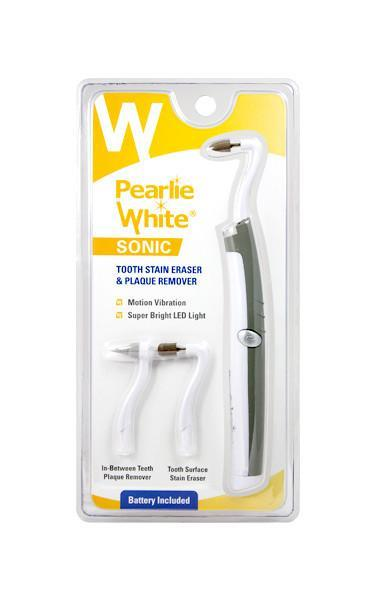 Sonic Tooth Stain Eraser with Plaque Remover - Pearlie White