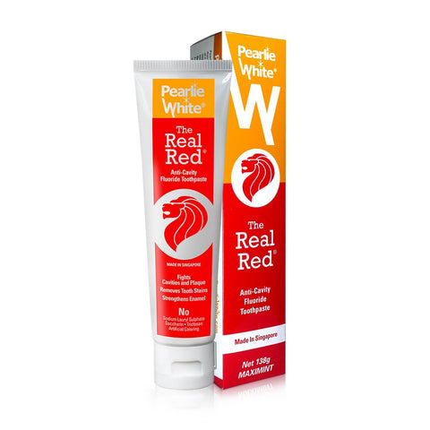 The Real Red® Anti-Cavity | Fluoride Toothpaste 138gm - Pearlie White