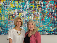 """United"" with Mayor Jeri Muoio and artist Ruth Mansmith"