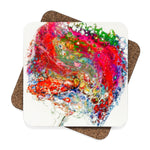 Coaster, Square Hardboard Coaster Set - 4pcs, Original Art