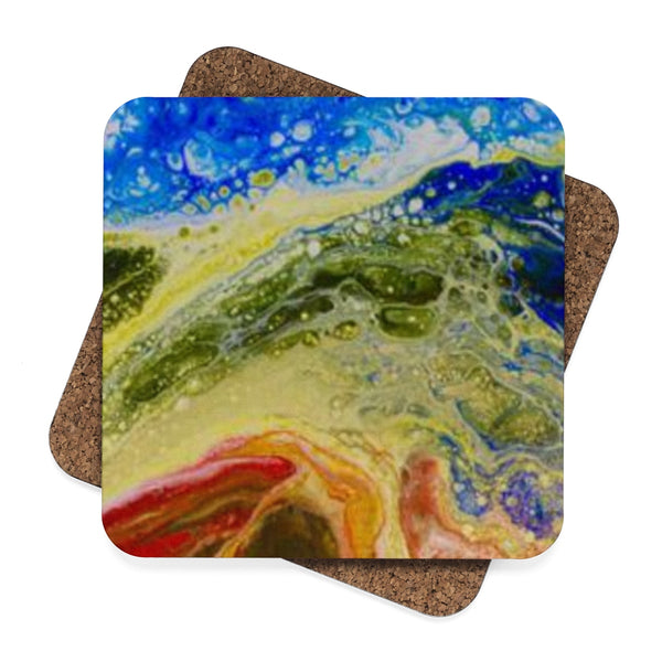 Coaster: Square Hardboard Coaster Set - 4pcs, Original Art