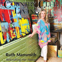 Country Club Living Magazine feature article with artist Ruth Mansmith