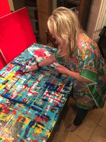 """United by artist Ruth Mansmith in her studio"