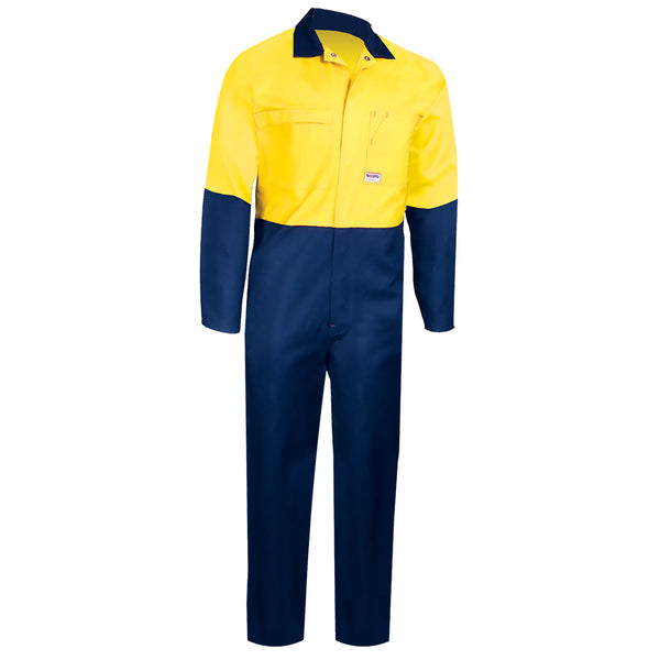HIGH VIS HEAVY WEIGHT COTTON OVERALL (2 TONE)