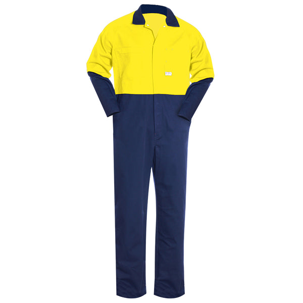 HIGH VIS LIGHT WEIGHT COTTON OVERALL (2 TONE)