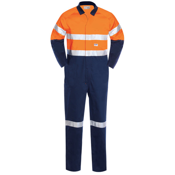 HIGH VIS LIGHT WEIGHT COTTON OVERALL (2 TONE REFLECTIVE)