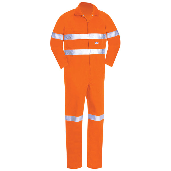 HIGH VIS LIGHT WEIGHT COTTON OVERALL (REFLECTIVE)