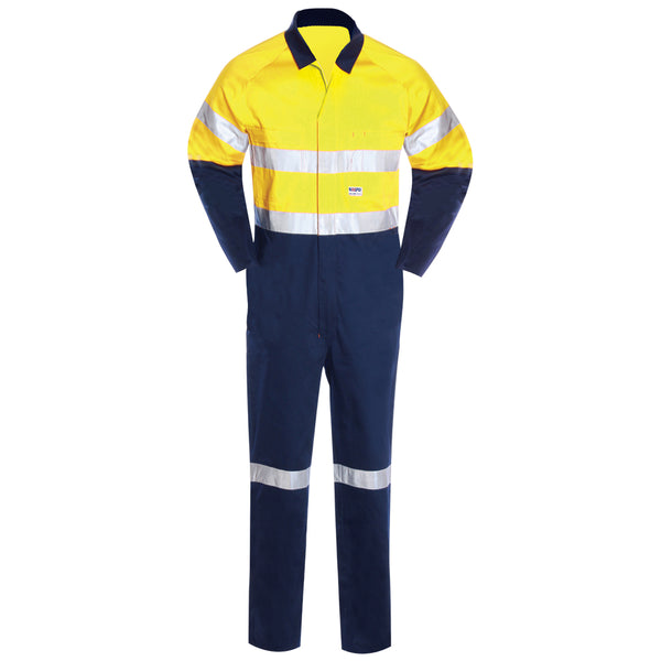 HIGH VIS HEAVY WEIGHT COTTON OVERALL (2 TONE REFLECTIVE)